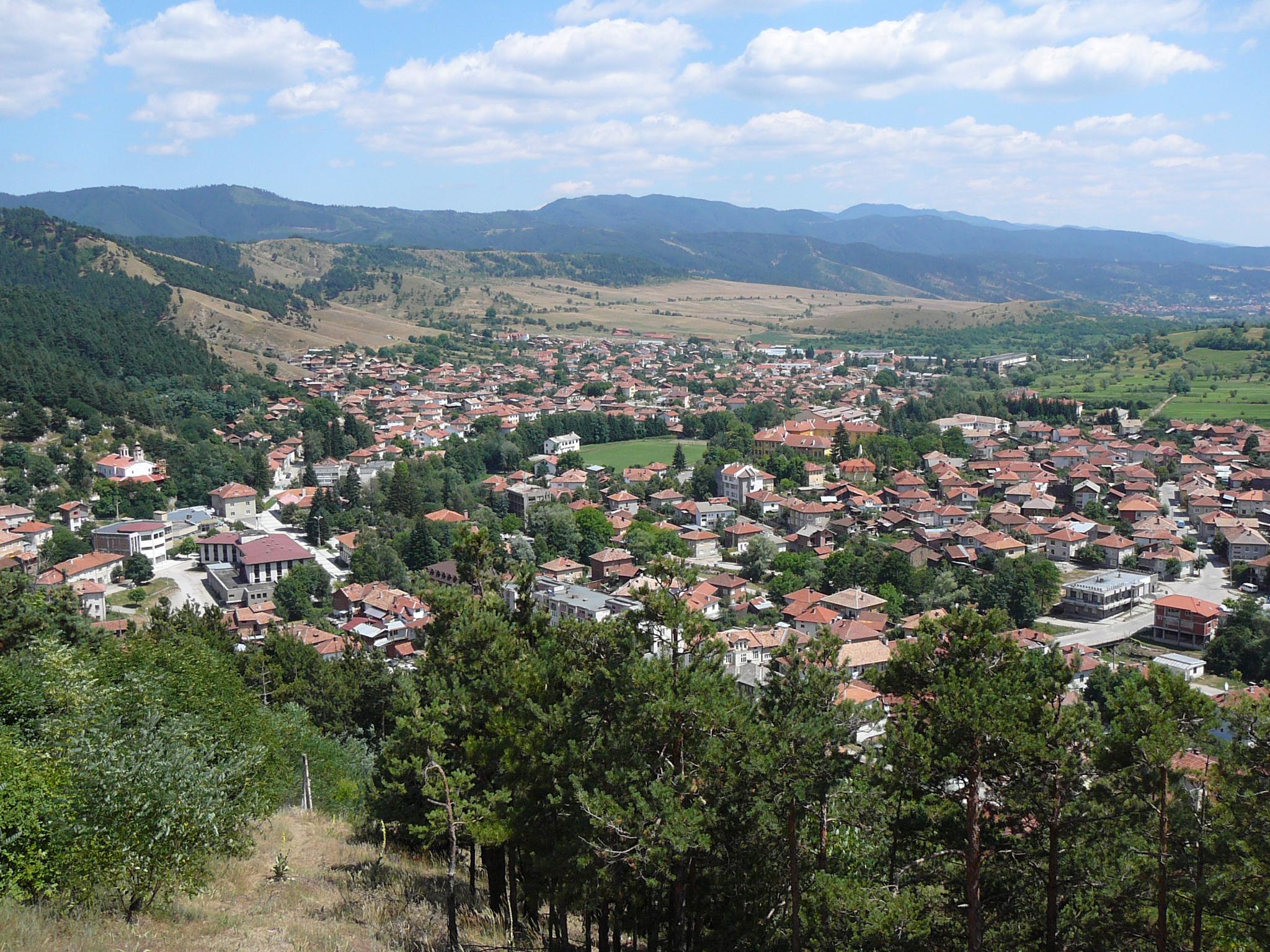 Град Белица от високо